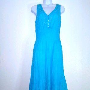 Mlle Gabrielle Sleeveless Cotton Boho Maxi Dress